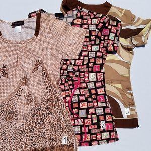 Lot of 3 Baby Phat Nurse Uniform Scrub Tops small